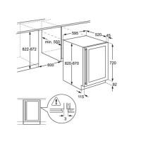 Винный шкаф встраиваемый ELECTROLUXERW1573AOA