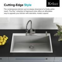 Мойка кухонная Kraus KP1TS33S-4