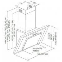 Вытяжка кухонная AKPO WK-4 Nero 90
