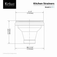 Сливной клапан кухонной мойки Kraus  ST-1
